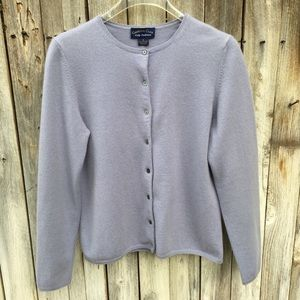 Charter Club 2 Ply Cashmere Cardigan Sweater S